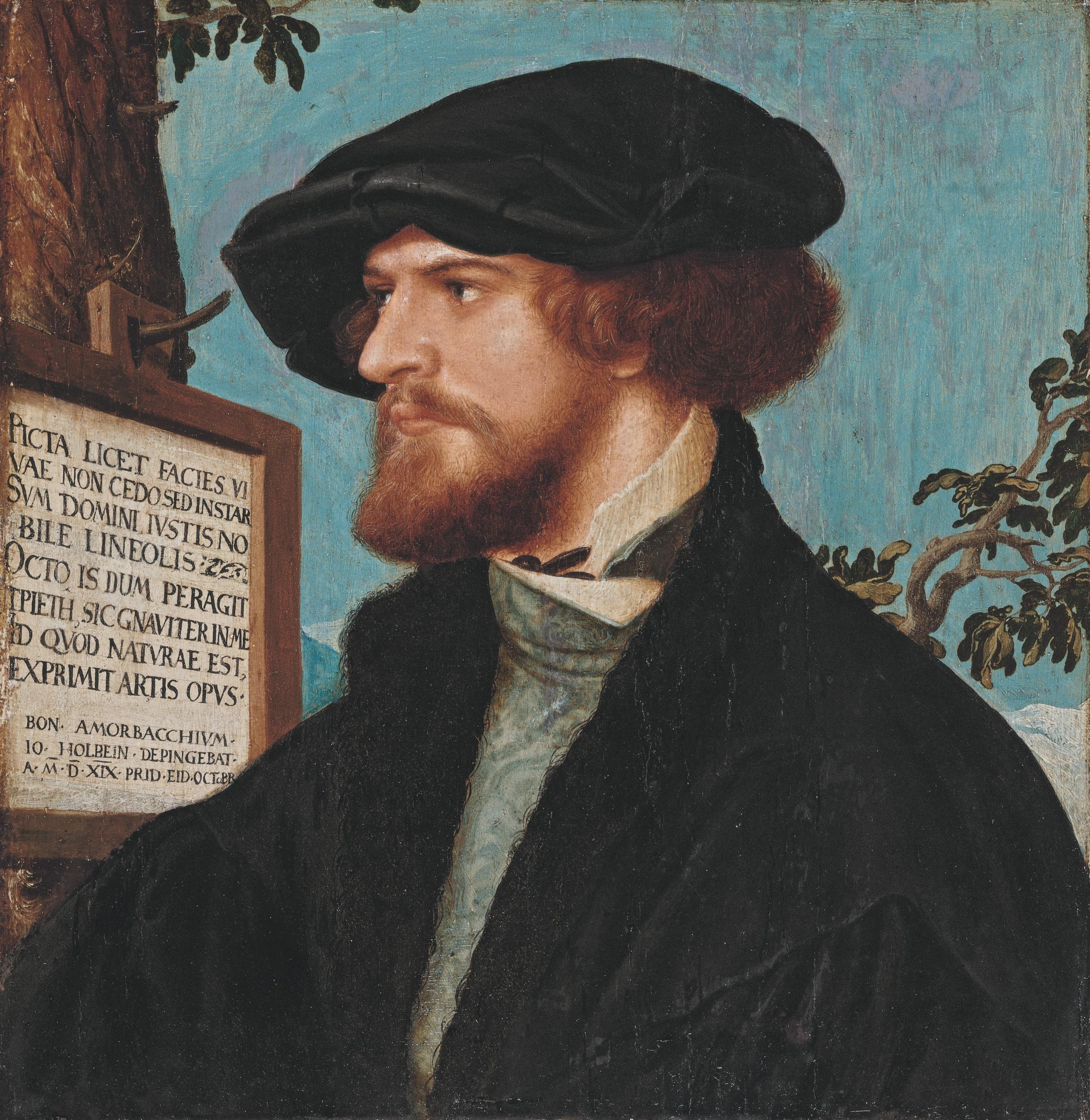 Hans Holbein d.J., Bildnis des Bonifacius Amerbach, 1519. Kunstmuseum Basel, Amerbach-Kabinett