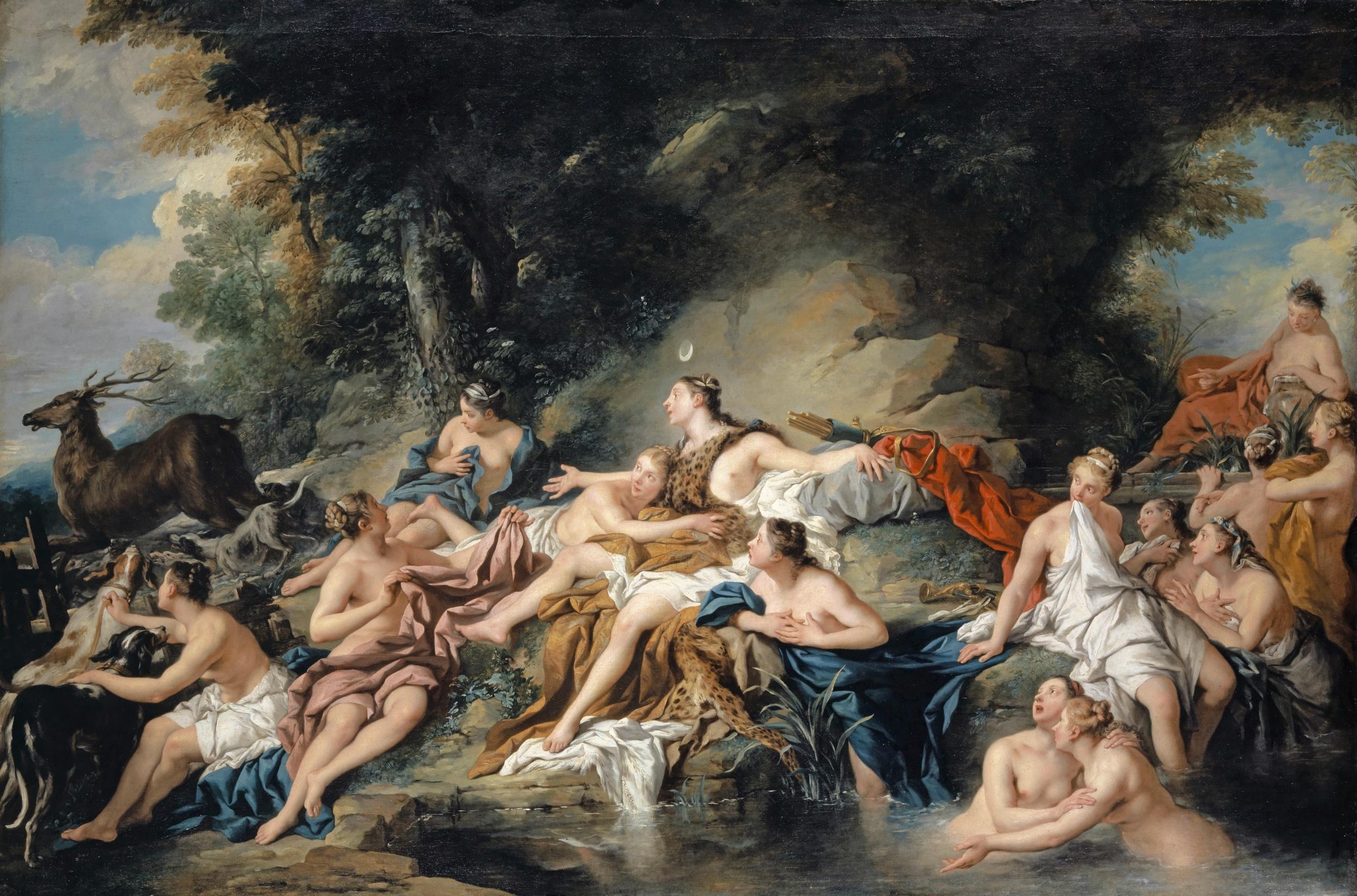 Jean-François de Troy, Diana und Aktäon, 1734. Kunstmuseum Basel