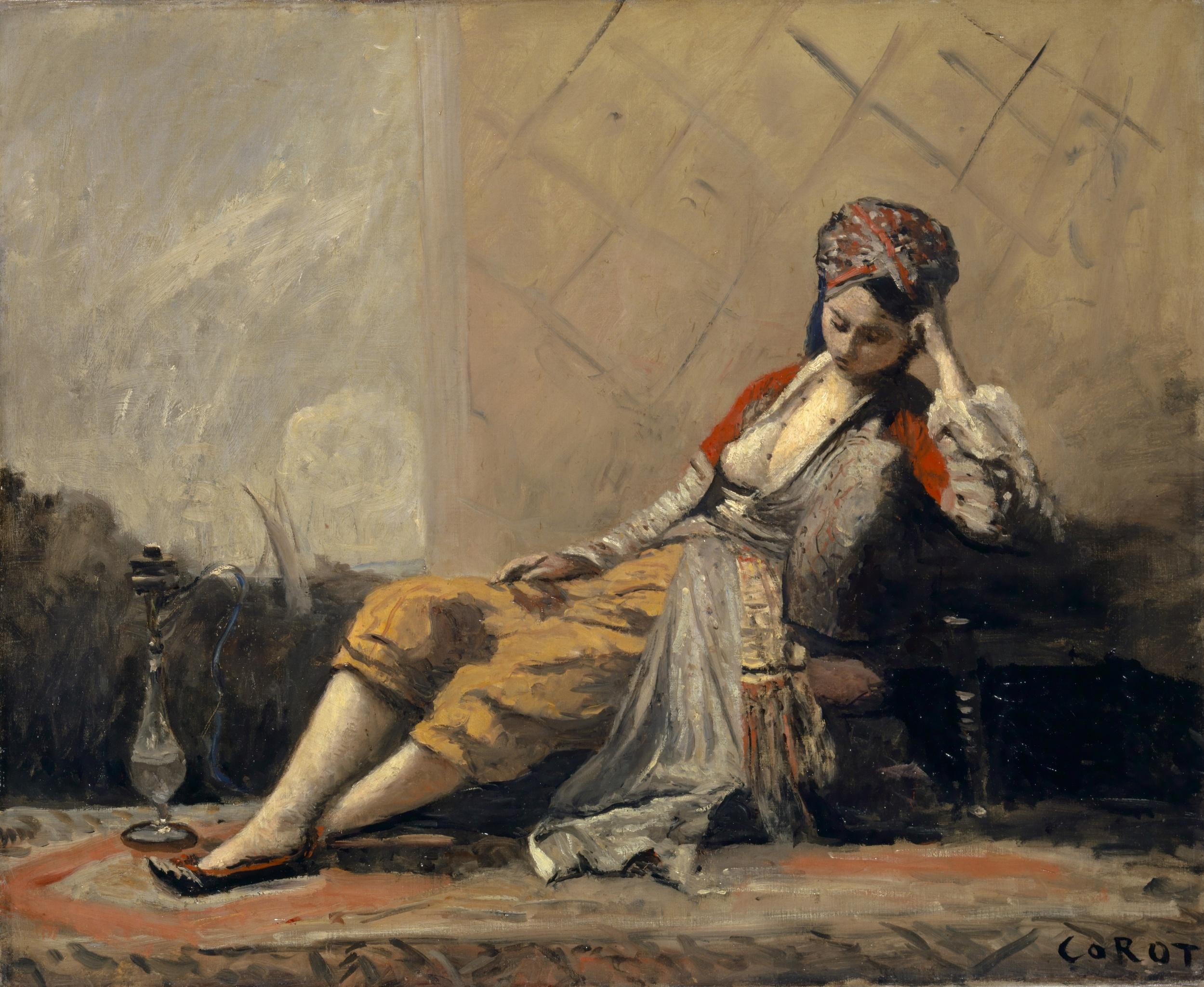 Jean-Baptiste Camille Corot, Odalisque, 1871/73. Kunstmuseum Basel