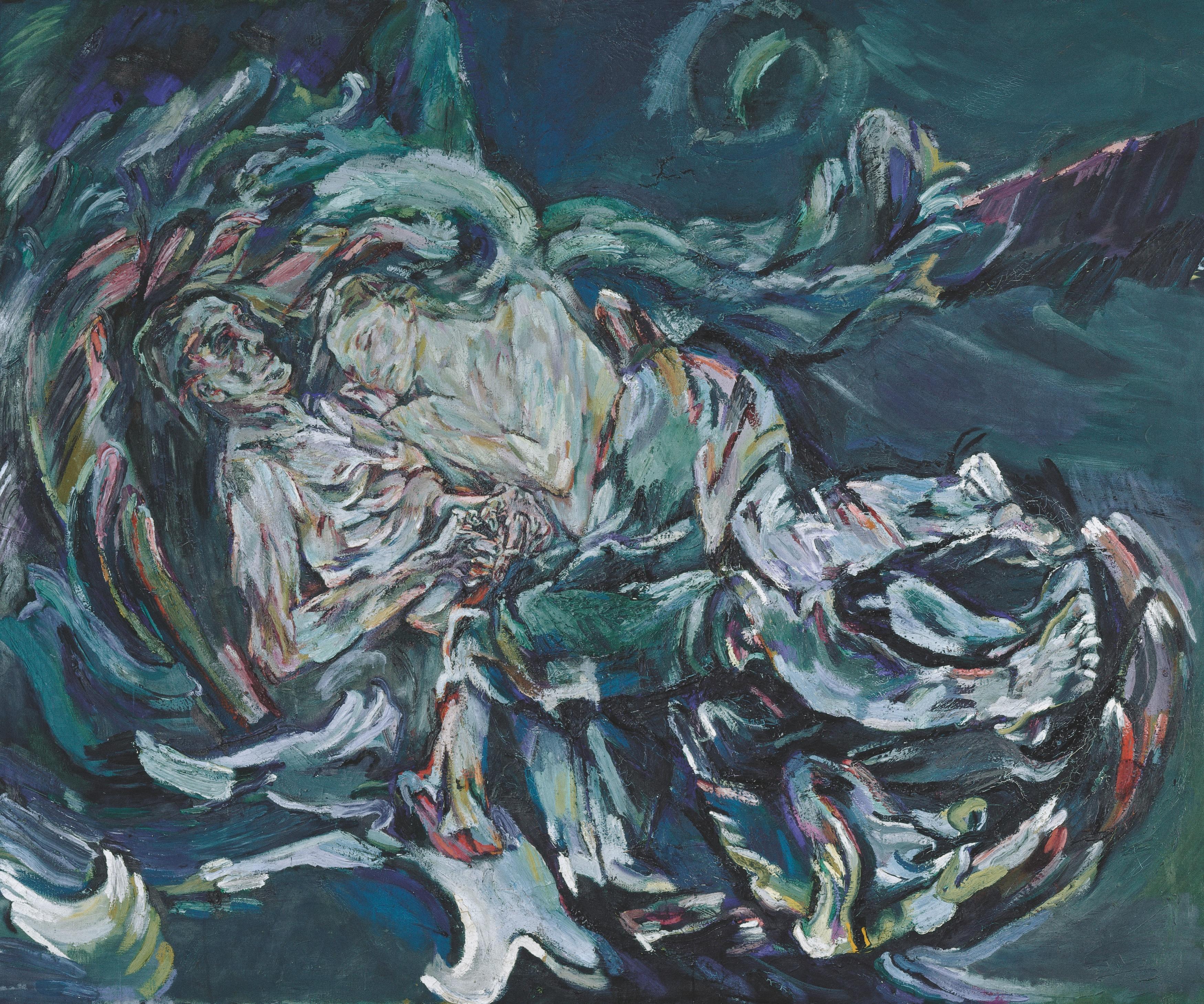 Oskar Kokoschka, Die Windsbraut, 1913. Kunstmuseum Basel, mit einem Sonderkredit der Basler Regierung erworben