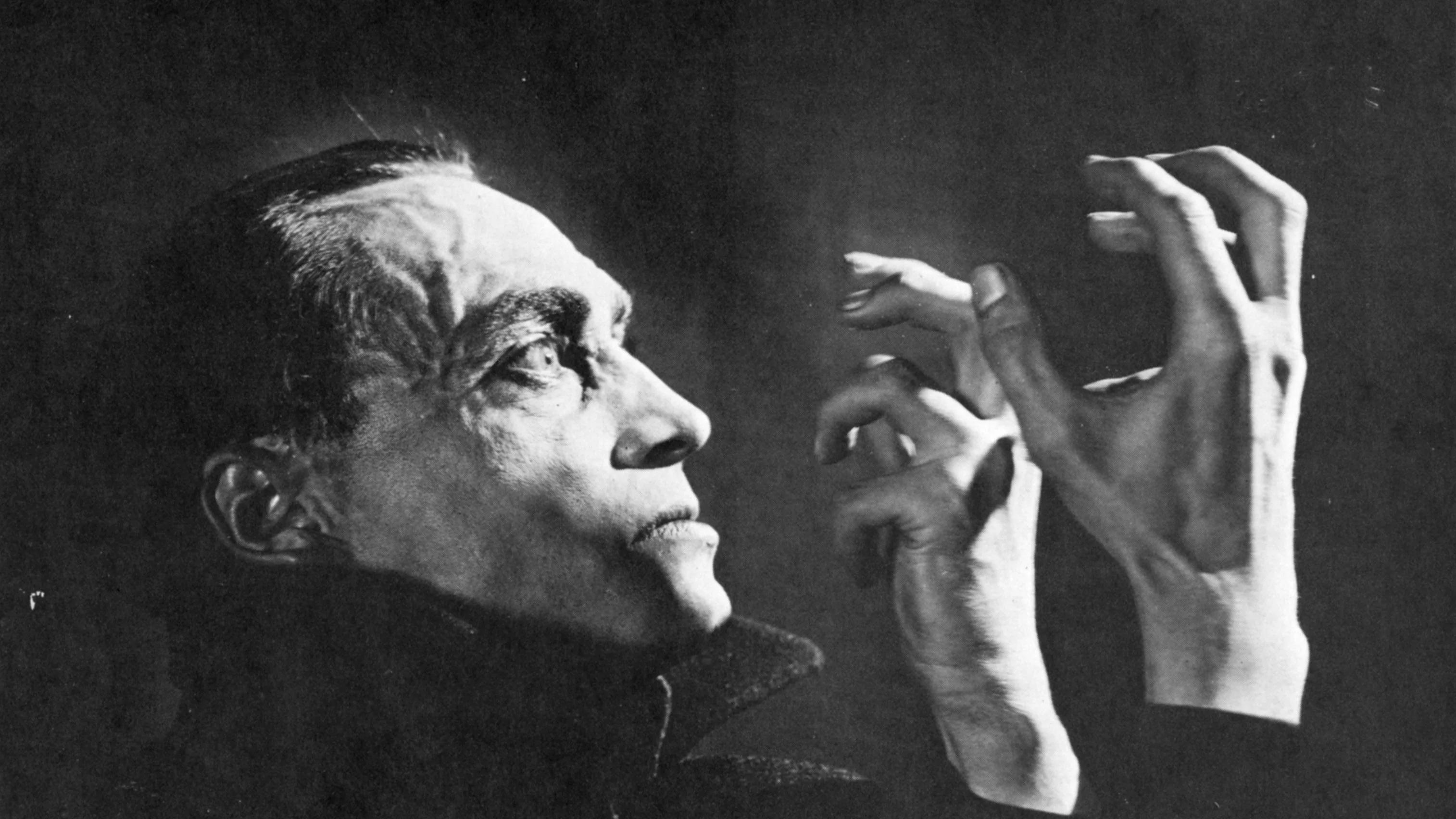 Conrad Veidt in der Rolle des Pianisten Orlac in Robert Wienes Stummfilm «Orlacs Hände» aus dem Jahr 1924.