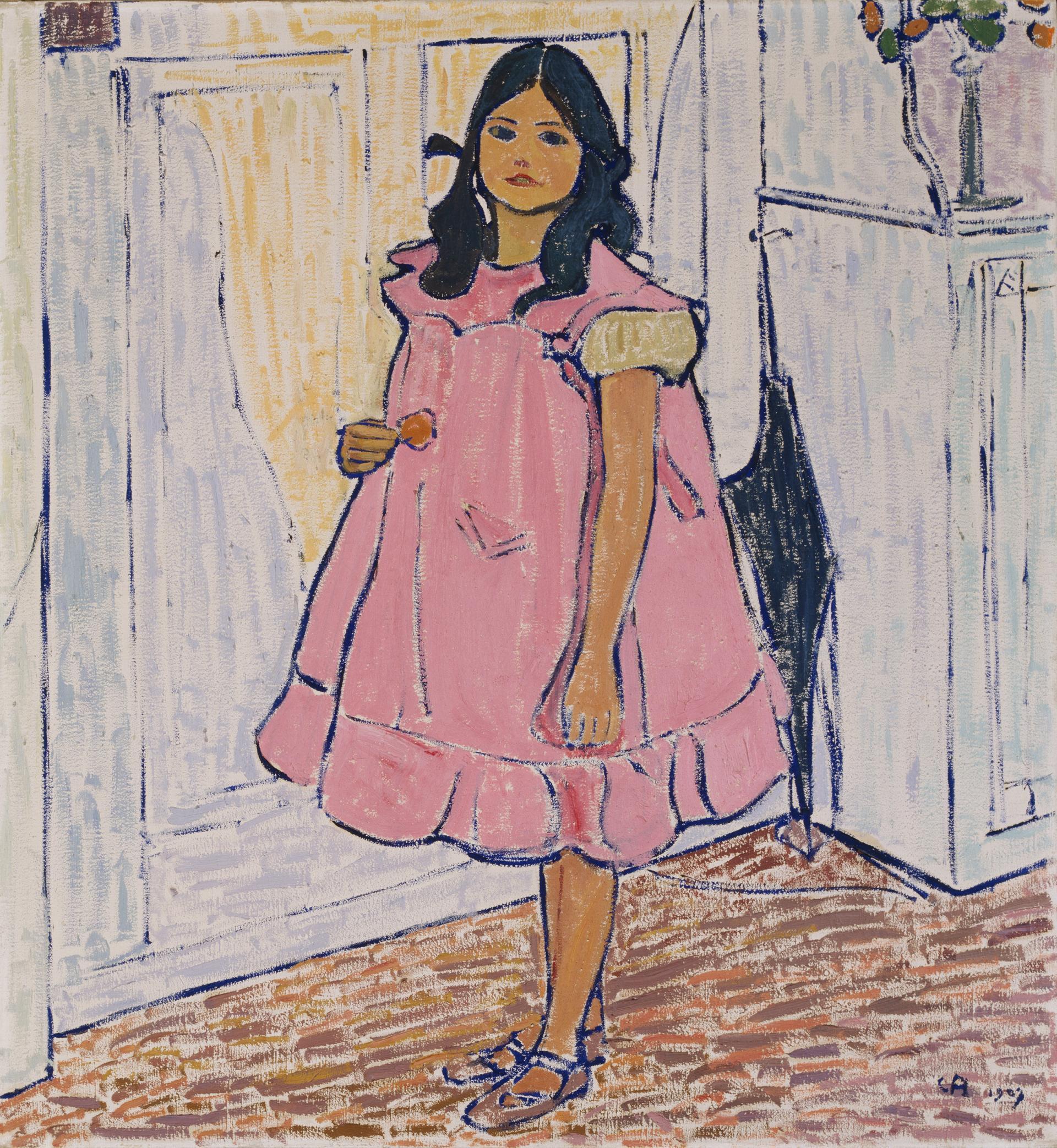 Cuno Amiet, Greti in rotem Kleid, 1907, Öl auf Leinwand, 99x91cm, Kunsthaus Zürich, © D. Thalmann, Aarau, Switzerland