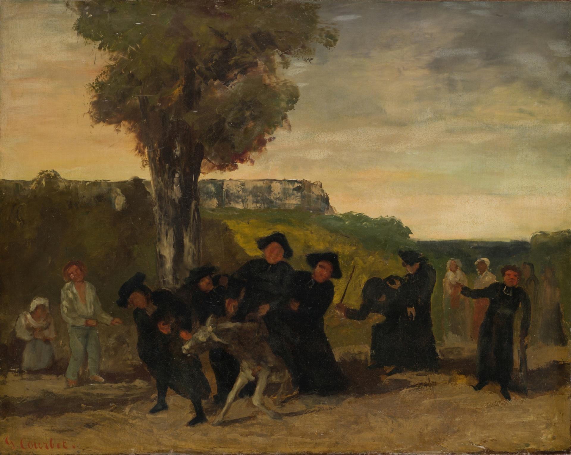 Gustave Courbet (?), Le retour de la conférence, 1863. Kunstmuseum Basel