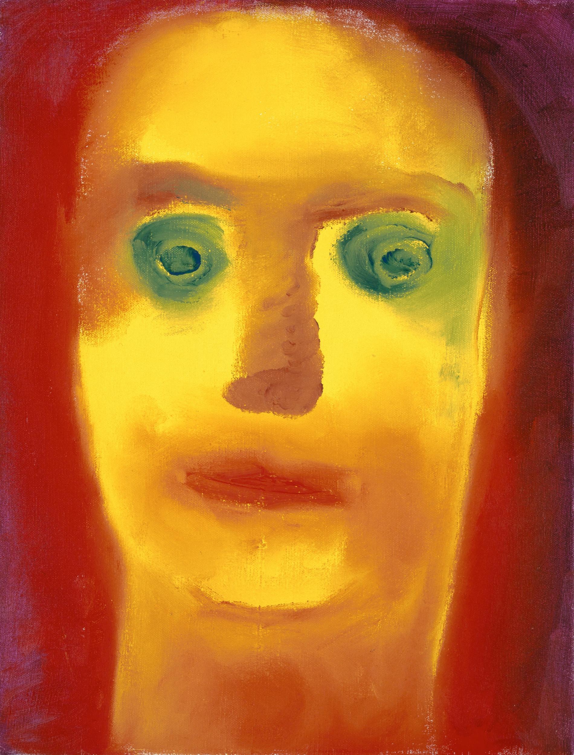 Miriam Cahn, Ohnte Titel (1. Mai), 1995, Öl auf Leinwand, 30.5 x 23.7 cm, Kunstmuseum Basel