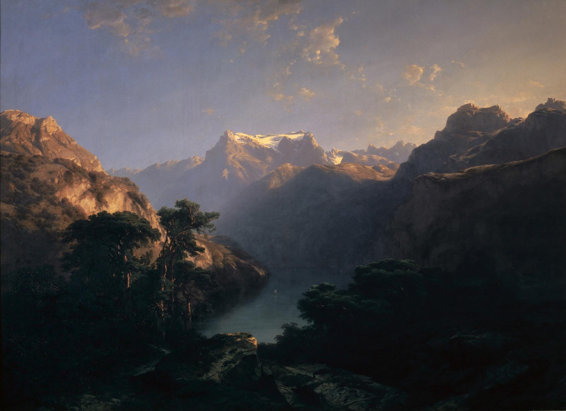 Alexandre Calame, Am Urnersee, 1849</br>Kunstmuseum Basel, Geschenk der Erben von Marie Vischer-d'Assonleville 1950