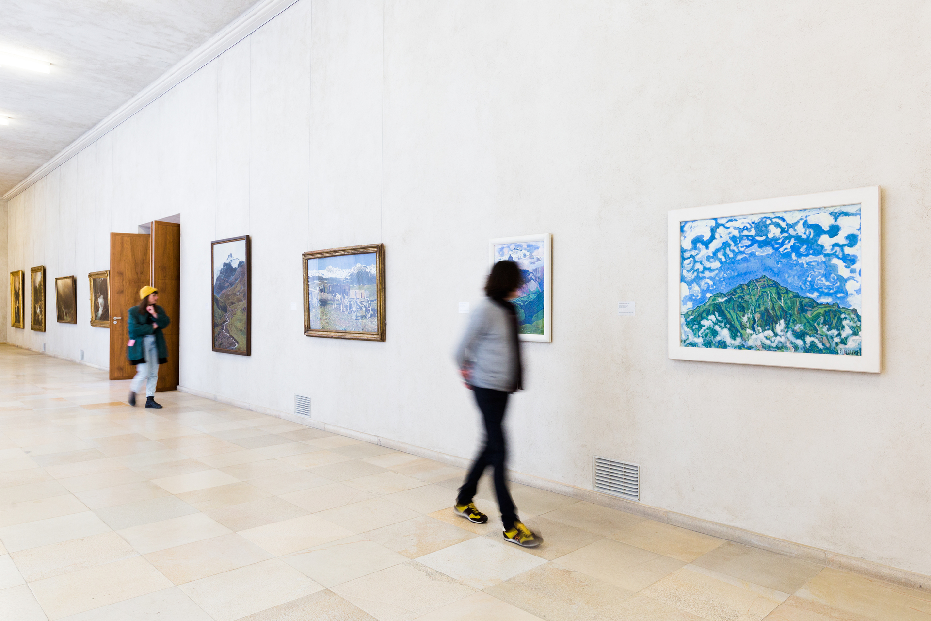 Ansicht der Sammlungspräsentation «Schweizer Berger», </br>Foto: Kunstmuseum Basel, Julian Salinas