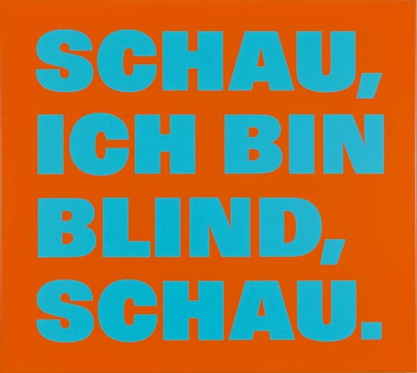 Rémy Zaugg, Schau, ich bin blind, schau., Nr. 47, 1998, Photo : Tobias R. Dürring