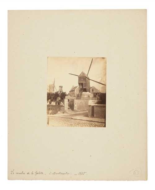 Unknown, Moulin de la Galette in Paris, albumen print, 1865© as a collection by Jacques Herzog und Pierre de Meuron Kabinett, Basel.