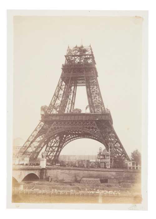 Unknown, The Eiffel Tower under construction, albumen print, 1888© as a collection by Jacques Herzog und Pierre de Meuron Kabinett, Basel.