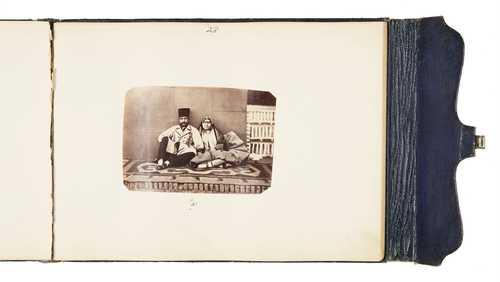 Album of Naser al-Din Shah Qajar's court and harem, albumen prints, 1872–1875© as a collection by Jacques Herzog und Pierre de Meuron Kabinett, Basel.