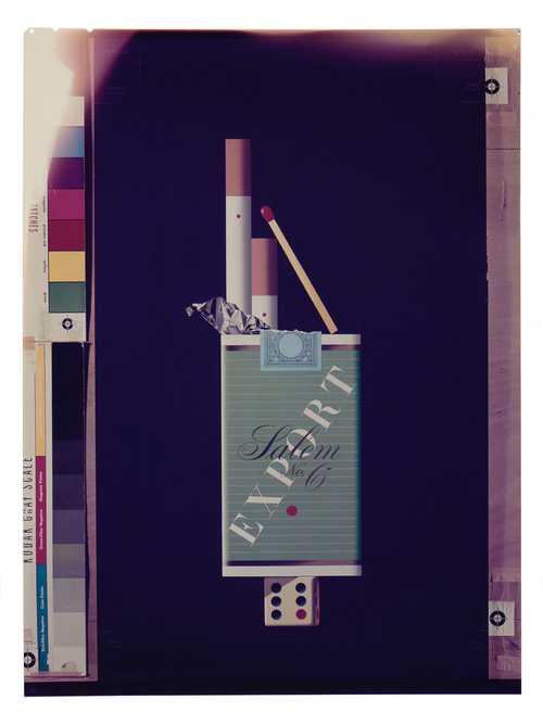 Hans Hinz, Advertisement for Knorr, Kraft-Käse (1960–1976), Roth-Händle (1967–1976), Salem No. 6, Senoussi und Fox (1952–1964), Merz + Co. AG Basel (1963), chromogenic diapositives, reproductions after the originals© as a collection by Jacques Herzog und Pierre de Meuron Kabinett, Basel.