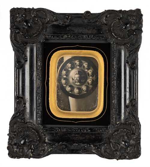 Charles Nègre, Autoportrait in a sorcerer's mirror, daguerreotype, ca. 1845© as a collection by Jacques Herzog und Pierre de Meuron Kabinett, Basel.