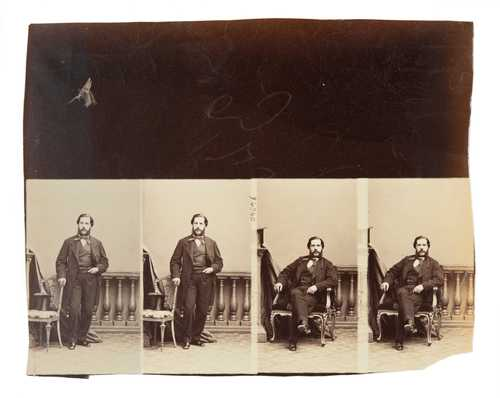 André Adolphe-Eugène Disdéri, Portraits, collage of three albumen prints, 1860–1870© as a collection by Jacques Herzog und Pierre de Meuron Kabinett, Basel.