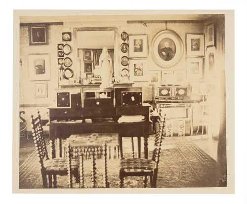 De Chazelle, Drawing room, albumen print, 1870–1895© as a collection by Jacques Herzog und Pierre de Meuron Kabinett, Basel.